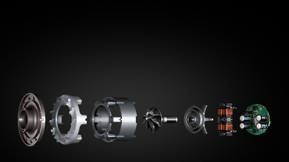 Image showing the parts of the Dyson digital motor