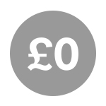An icon showing £0.